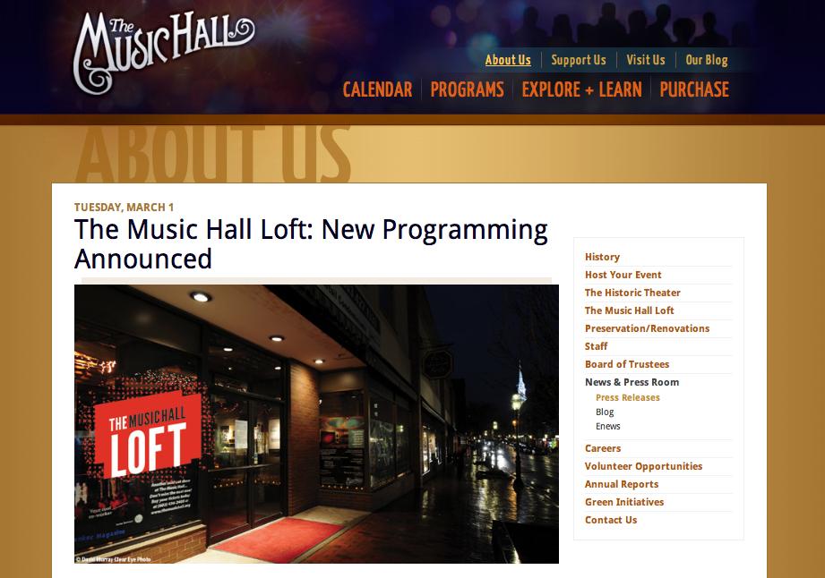The music hall loft
